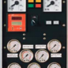 Engine control terminal with analog instrumentation in robust cast casing