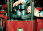 Cylinder liner with anti-wear ring